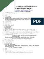 Sistematika Penyusunan Rencana Kerja Menengah