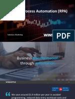 Robotic Process Automation RPA for SAP