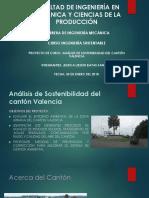 Proyecto Sostenibilidad Cantón Valencia