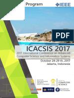 Advanced Program ICACSIS 2017 v5