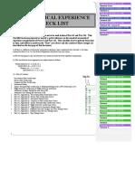 Aeronautical Experience Checklist 2003