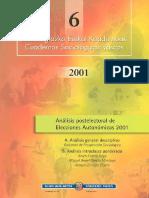 Analisis Postelectoral Autonomicas Vascas 2001