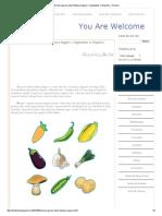 Nama Sayuran Dalam Bahasa Inggris ( Vegetables in English ) _ Science