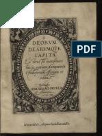 Deorum Dearumque capita ex vetustis numismatibus in gratiam antiquitatis studiosorum effigiata et edita.