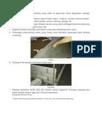 Metode Pelaksanaan Pemasangan Bata Ringan