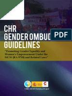 CHR Gender Ombud Guidelines 2015