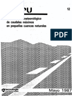 Calculo hidrometeorologico de caudales maximos en pequeñas cuencas naturales (Ministerio de Fomento).pdf