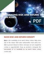 Estimating Risk and Return on Asset