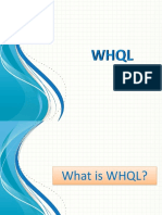 WHQL Presentation