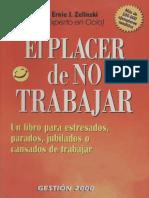 Zelinski Ernie J - El Placer de No Trabajar