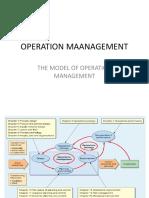 Chapter - 1, Model of Operation Mangement