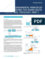 Fundamental Principles Behind the Sigma Delta ADC Topology Part 1