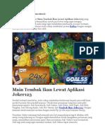 Main Tembak Ikan Lewat Aplikasi Joker123