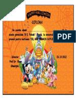 Diploma Halloween 1