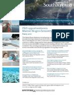 PhD Flyer - Marine Biogeochemistry-2017