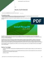 Install MongoDB on Ubuntu 16