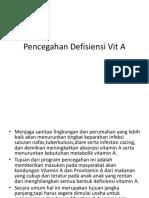 Pencegahan Defisiensi Vit A