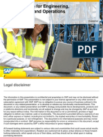 SAP Road Map for Engineering, Construction, And Operations