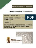 SCADA Control Puerta Acceso Industrial Con S7-300