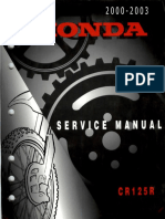 Honda CR 125 R Service Repair Manual 2000-2003