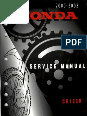Honda CR 125 R Service Repair Manual 2000-2003 | Nut