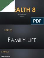 HEALTH 8 (2nd Quarter Summary)