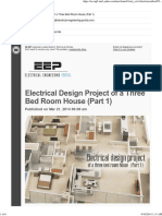 EEP- Electrical Design Project of a Three Bed Room House Part 1