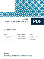 Lecture 2-Essential Mathematical Tools 1