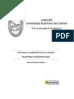 Guia Para La Planeacion de Una Actividad Transversal-Interdisciplinaria Ms
