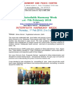 Interfaith  Harmony  Week Celebration