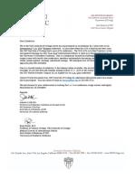 Exhibitors Invitation USC Letter LA Live ::May 2018