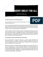 Make Europe Great for All - English Manifesto