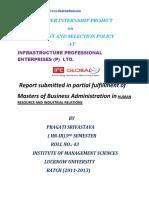 FYP_Summer Internship Infrastructure Professional