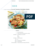 Puten-Saltimbocca mit Tomaten-Frischkäse-Nudeln Rezept | LECKER