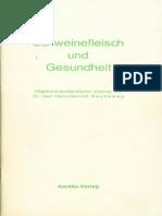 Reckeweg,Hans-Heinrich-Schweinefleisch Und Gesundheit-Mit Dem Wichtigen Nachtrag(1977, 51S.)