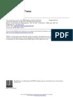 Barnett Finnemore 1999 - OIs e o Construtivismo