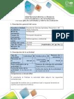Guía de Actividades y Rúbrica de Evaluación - Tarea 2 - Redactar Una Crónica de Problema Agrario