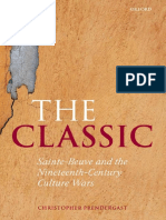Christopher Prendergast-The Classic_ Sainte-Beuve and the Nineteenth-Century Culture Wars (2008)