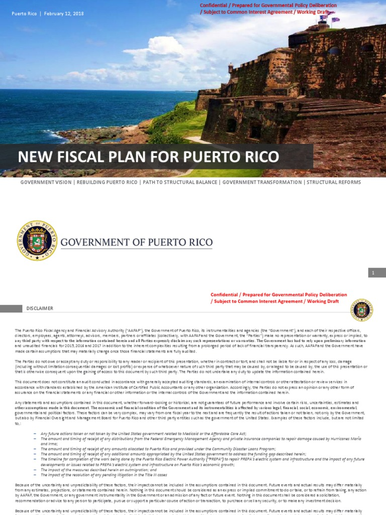 Enmiendas Del Plan Fiscal Puerto Rico Emergency Management