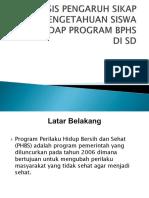 Analisis Pengaruh Sikap Dan Pengetahuan Siswa Terhadap Program