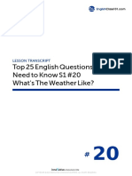 20 What's the Weather Like - Script