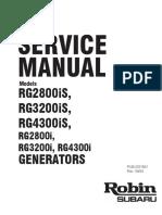 Subaru Generators Inverter Rg3200is Rg4300is Service