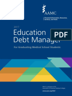Education Debt Manager for Graduating Medical School Students--2017