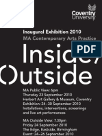 Inside/Outside - Exhibition from the MA in Contemporary Arts Practice