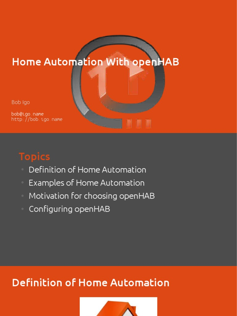 Open Hab | Automation | Computing
