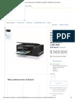 Impresora Epson Cargacontinua Color Multifuncional L395 Wifi - $ 569