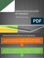 Variables Operacionalizacion