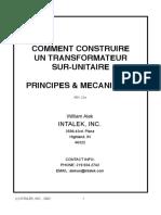 Comment Construire un Transformateur Sur-unitaire - Principes - Energie libre - Free Energy - Overunity