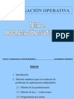 4. Programación Multiobjetivo