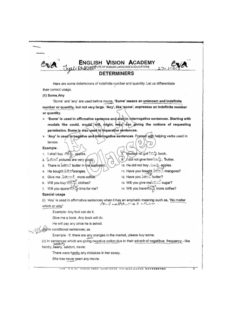 English Notes [Paart 3 Grammatical Number